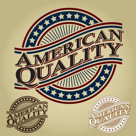 American Quality Retro Seal / Badge Stock Vector - 17901492