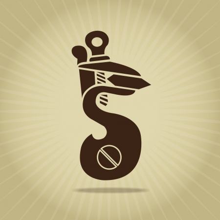 Flintlock Silhouette Retro Styled Illustration