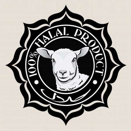 Halal Product Seal with Lamb