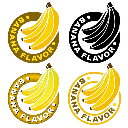 Banana Flavor Seal / Mark  Vector