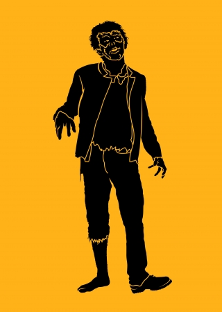 cool man: Zombie Silhouette