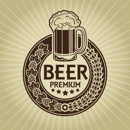 german mark: Beer Premium Retro Styled Seal  Label