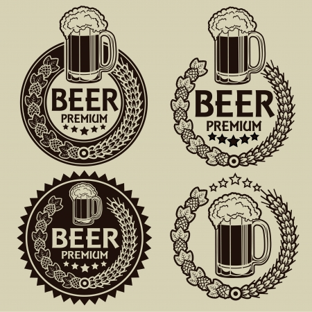 Retro Styled Beer Seals / Labels  Stock Vector - 18357390