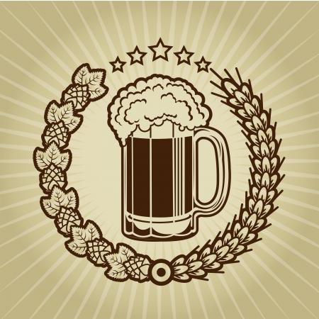 german beer: Vintage Beer Mug Seal