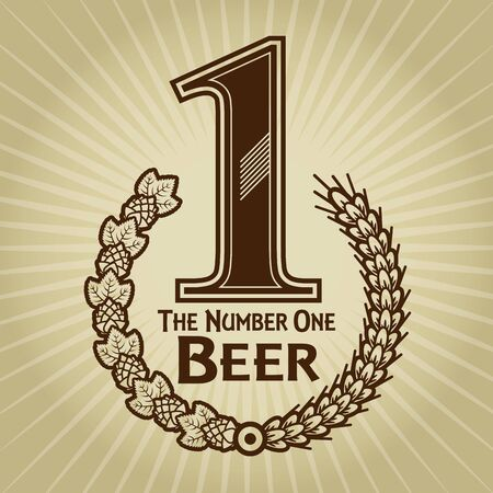 The Number One Beer Seal  Mark  Vector