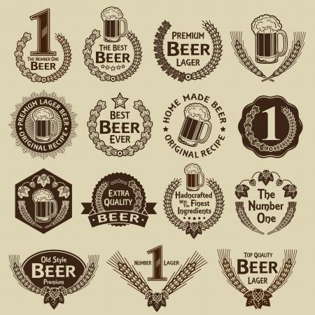 Colecci�n Vintage Beer Seals & Marcas Vectores