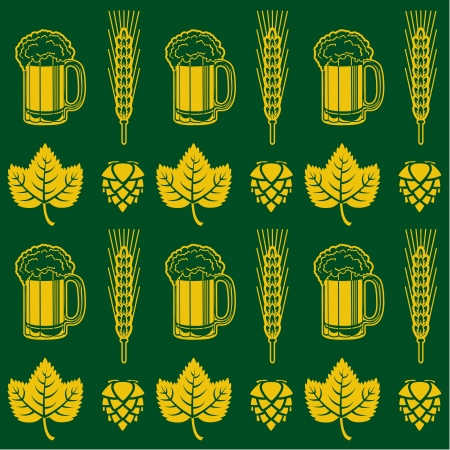 beer label design: Beer Seamless Pattern