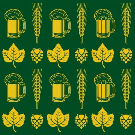 Cerveza Seamless Pattern