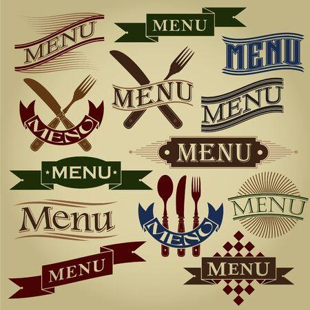 Vintage Styled MENU Calligraphic Designs