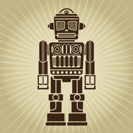 Retro Vintage Robot Illustration  Illustration
