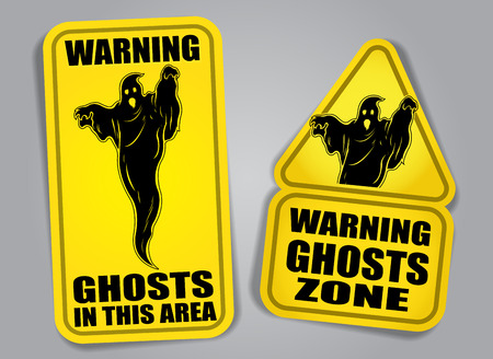 Warning Signs Ghosts Stock Illustratie