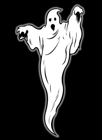 Ghost Character Illustration