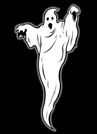 Illustrazione di Ghost Carattere Vettoriali