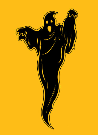 Ghost Silhouette Illustration Vector