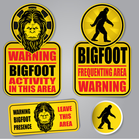 Bigfoot Warning Signs Stockfoto - 28904507