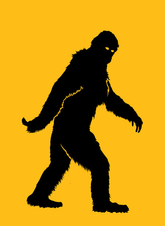 animal foot: Bigfoot Silhouette Illustration Illustration