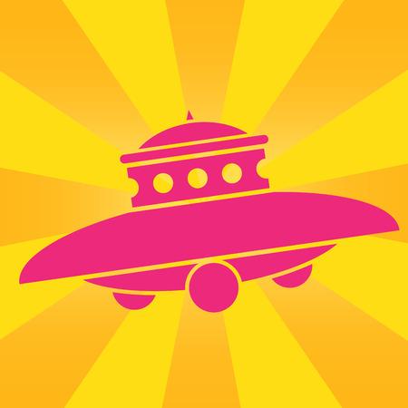 UFO Pop Art Icon