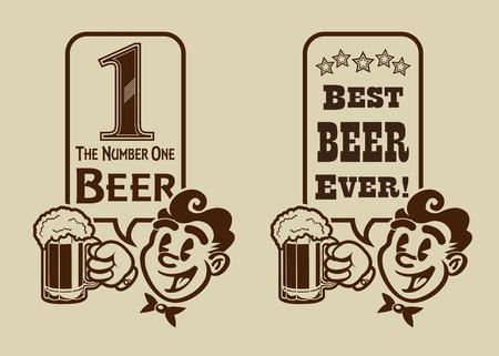 dai: Best Beer retro vintage character