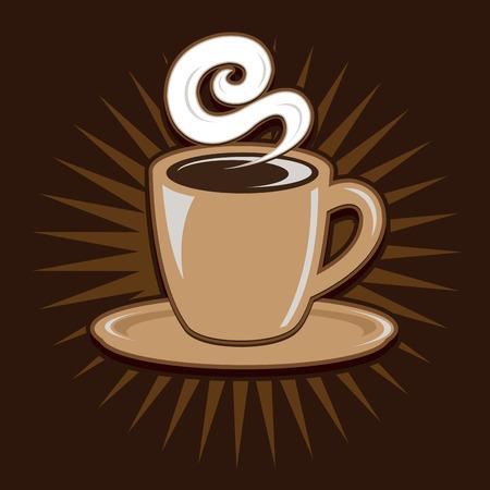 taza cafe: Retro taza de café de la vendimia