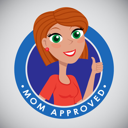 accredit: Mom Approved Seal Character Icon