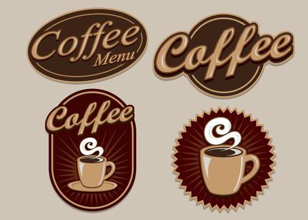 Retro Vintage Design Caffè Archivio Fotografico - 42028532