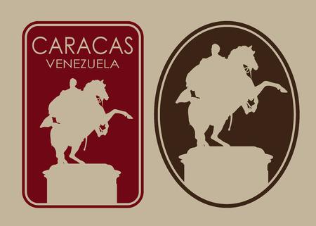 Caracas Venezuela Seal Label