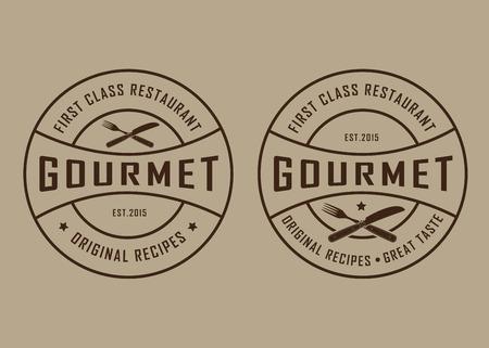 gourmet dinner: Vintage Retro Gourmet Seals