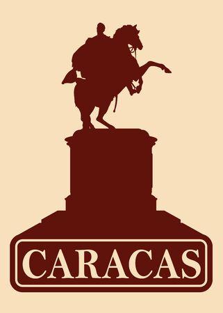 liberator: Vintage Retro Caracas Venezuela Silhuette