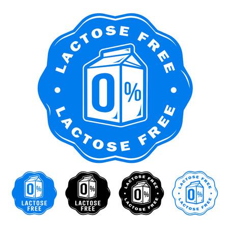 Iconos sin lactosa Vectores