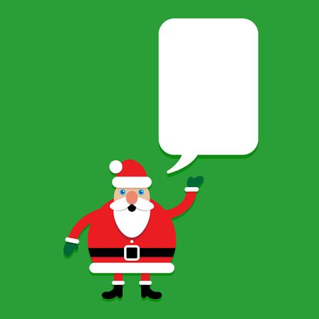 Santa Claus Character with Talking Bubble