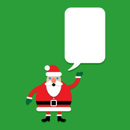 advising: Santa Claus Character with Talking Bubble