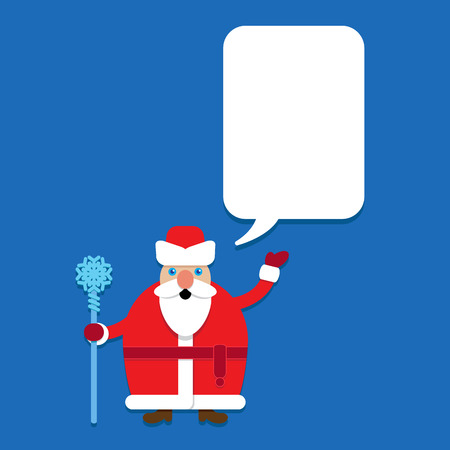 Russian Santa Claus. Ded Maroz Grandfather Frost with Talking Bubble Stock Illustratie