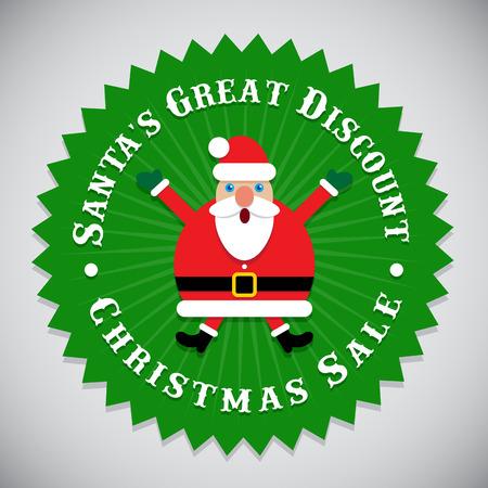 Santa's Great Discount Christmas Sale Seal Stock Illustratie