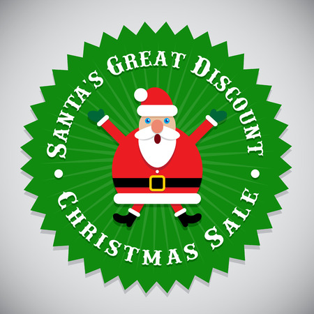 great seal: Santas Great Discount Christmas Sale Seal