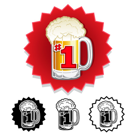 The Number One 1 Beer Worldwide seal set
