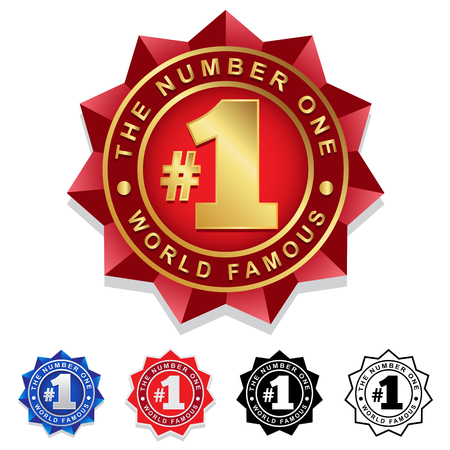 nombres: Le Number One 1 Badge Seal