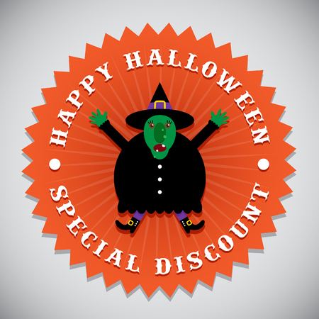 Happy Halloween Special Discount Witch Seal Badge