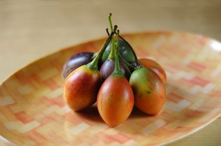 tamarillo: tamarillo  tree tomato  solanum betaceum Stock Photo