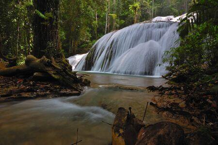 Saluopa waterfall, Pamona, Central Sulawesi, Indonesia Stock Photo - 15814190