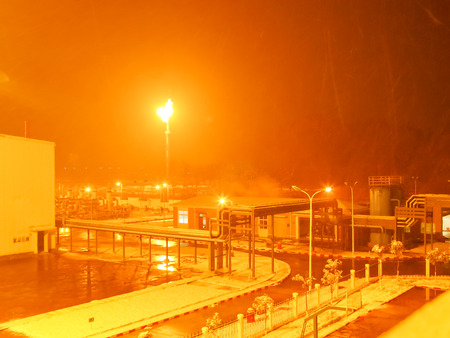 snowing: snowing scene in factory