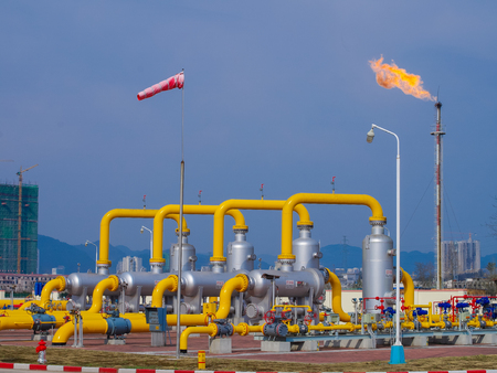 naphtha: Oilgas pipeline on fire