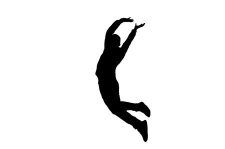 man jumping: Jumping silhouette Illustration
