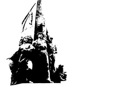 Revolutionary statues at Tiananmen Square