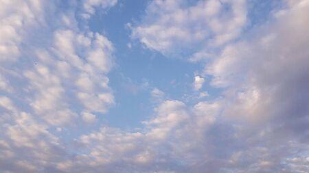 fluffy clouds in blue sky in monsoon Stock fotó