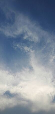 beautiful clouds in blue sky in monsoon