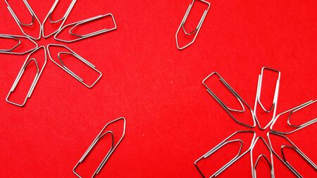 paper clip on color background
