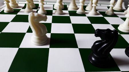 chess board game for ideas , competition, strategy and business concept