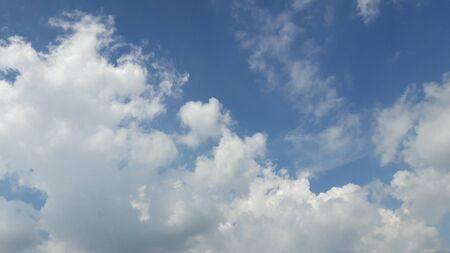 white fluffy clouds in blue sky in monsoon Stock fotó