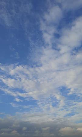 fluffy clouds in sky