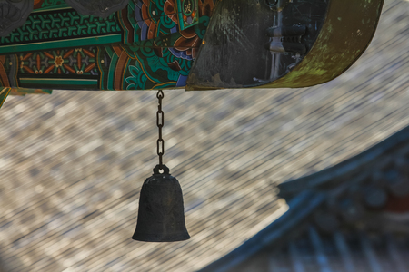 Wind chime at the end of eaves